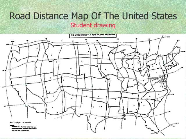 Us Mileage Map Distance United States Usa Map Distances Between Cities